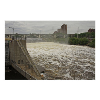 Minneapolis Lock and Dam Poster