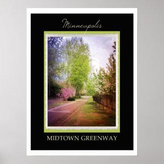 Minneapolis Midtown Greenway Poster
