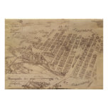 Minneapolis Minnesota 1891 Antique Panoramic Map Poster