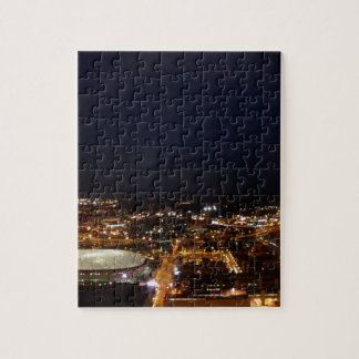 Minneapolis Minnesota City Skyline and Metrodome Puzzle