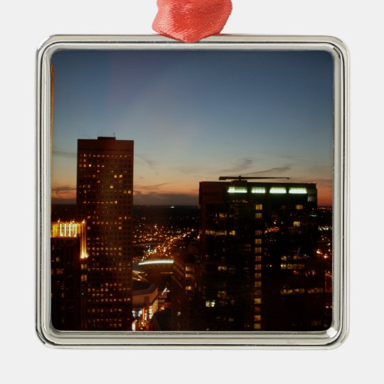 Minneapolis Minnesota City Skyline Metal Ornament