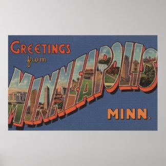 Minneapolis, Minnesota - escenas grandes de la let Impresiones
