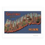 Minneapolis, Minnesota - escenas grandes de la Postal