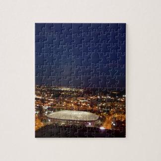 Minneapolis Minnesota HHH Metrodome Night Skyline Puzzles