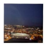 Minneapolis Minnesota HHH Metrodome Night Skyline Tiles