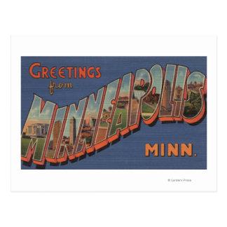Minneapolis Minnesota - Large Letter Scenes Post Card