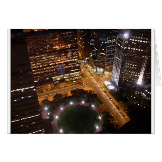 Minneapolis Minnesota Night in the City Card