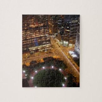 Minneapolis Minnesota Night in the City Jigsaw Puzzles