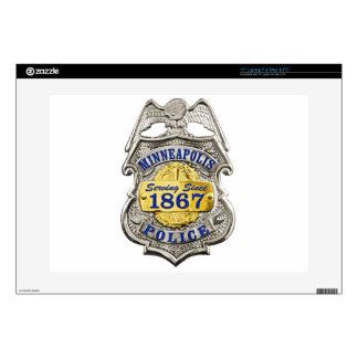 "Minneapolis Minnesota Police Badge Skin For 15"" Laptop"