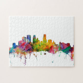 Minneapolis Minnesota Skyline Jigsaw Puzzle