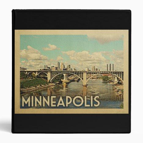 Minneapolis Minnesota Vintage Travel 3 Ring Binder
