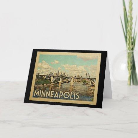 Minneapolis Minnesota Vintage Travel Card