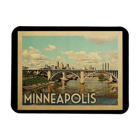 Minneapolis Minnesota Vintage Travel Magnet
