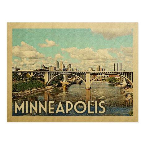Minneapolis Minnesota Vintage Travel Postcard