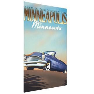 Minneapolis, Minnesota vintage travel poster Canvas Print