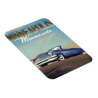 Minneapolis, Minnesota vintage travel poster Magnet