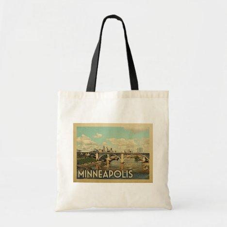Minneapolis Minnesota Vintage Travel Tote Bag