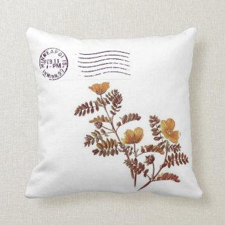 Minneapolis Minnesota Wild Flower Postage Pillow