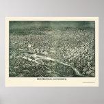 Minneapolis, MN Panoramic Map - 1879 Poster