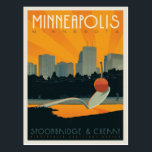 "Minneapolis, MN Postcard<br><div class=""desc"">Anderson Design Group is an award-winning illustration and design firm in Nashville,  Tennessee. Founder Joel Anderson directs a team of talented artists to create original poster art that looks like classic vintage advertising prints from the 1920s to the 1960s.</div>"