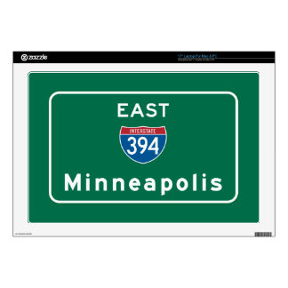 Minneapolis, MN Road Sign Decal For Laptop