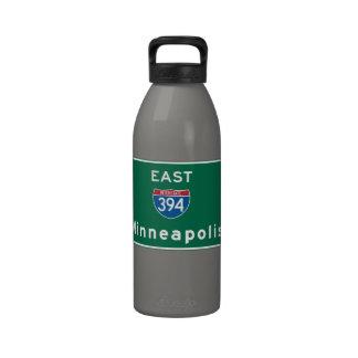 Minneapolis, MN Road Sign Reusable Water Bottle