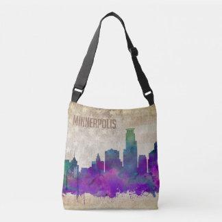 Minneapolis, MN | Watercolor City Skyline Crossbody Bag