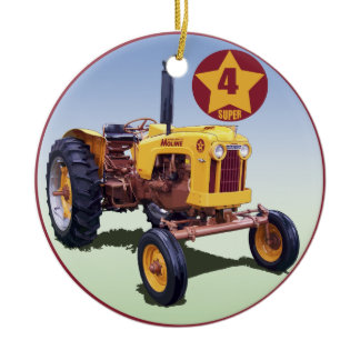 Minneapolis-Moline 4 Star Super Ceramic Ornament