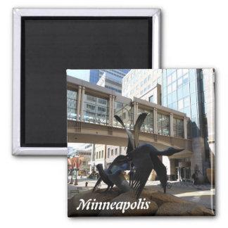 Minneapolis Nicollet Mall Photo Magnet Skyway