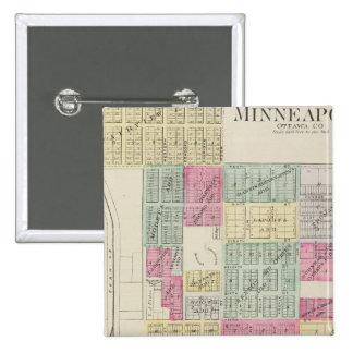 Minneapolis, Ottawa County, Kansas Pinback Button