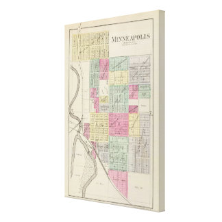 Minneapolis, Ottawa County, Kansas Canvas Print
