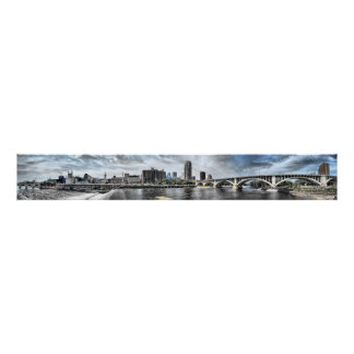 Minneapolis Riverfront 6-foot wide Panorama Poster
