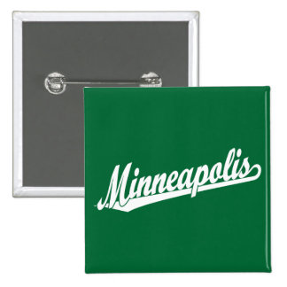 Minneapolis script logo in white pins