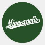 Minneapolis script logo in white sticker