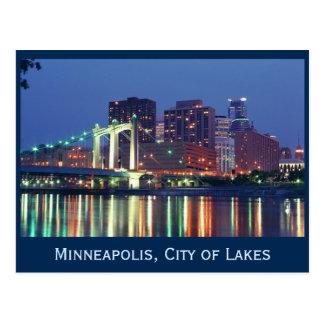 Minneapolis Skyline at night Postcards