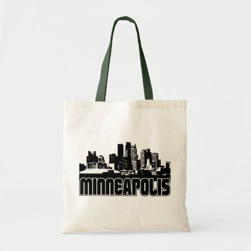 Minneapolis Skyline Tote Bags