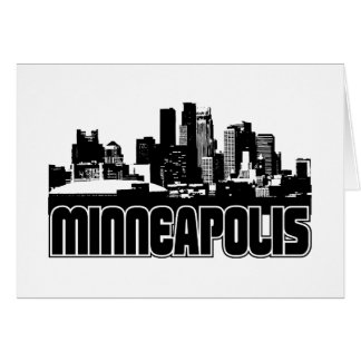 Minneapolis Skyline Card