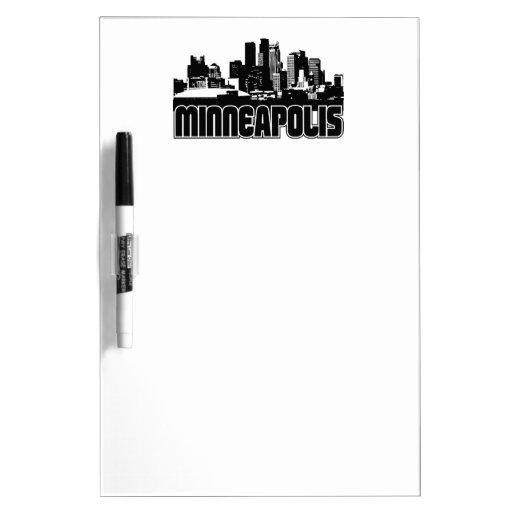 Minneapolis Skyline Dry Erase Whiteboards