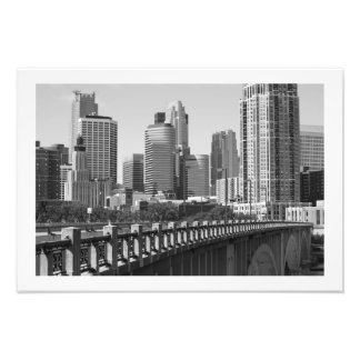 Minneapolis Skyline In Daylight Photo Print