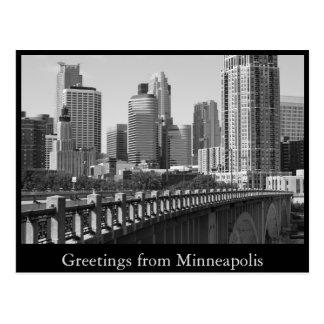 Minneapolis Skyline In Daylight Postcards