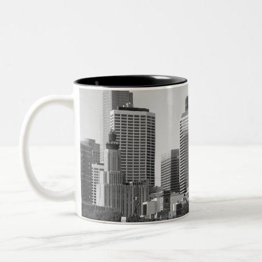 Minneapolis Skyline In Daylight Two-Tone Coffee Mug