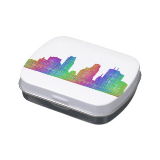 Minneapolis skyline jelly belly candy tin