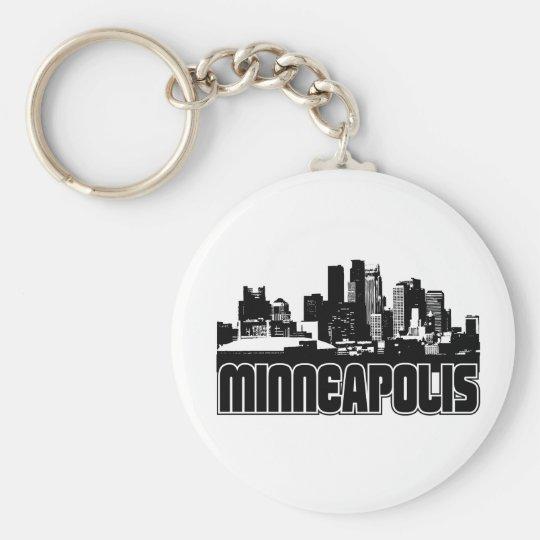 Minneapolis Skyline Keychain