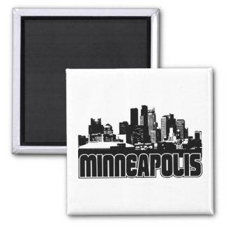 Minneapolis Skyline Fridge Magnets