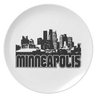 Minneapolis Skyline Melamine Plate