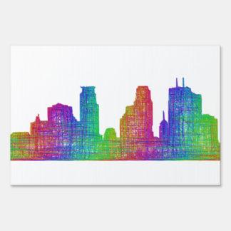 Minneapolis skyline sign