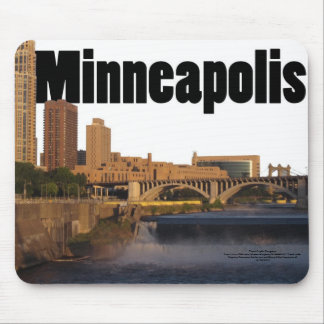 Minneapolis Skyline with Minneapolis in the Sky Mouse Pad