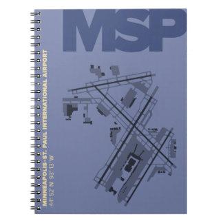 Minneapolis-St. Paul Airport (MSP) Map Notebook