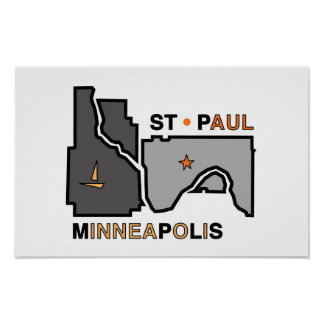 Minneapolis St. Paul Twin City Love Poster