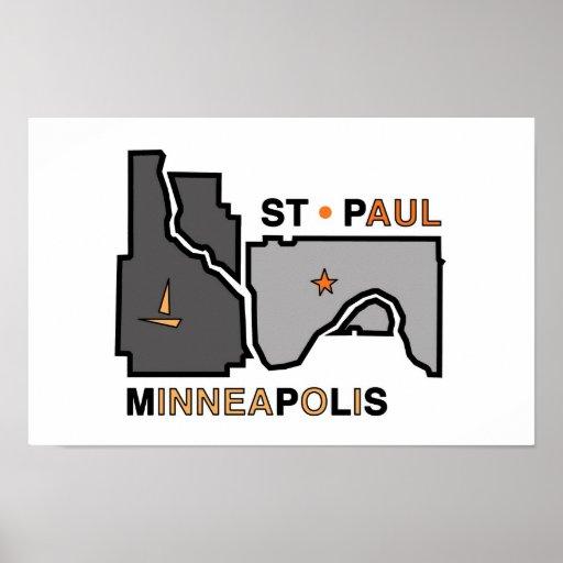 Minneapolis St. Paul Twin City Love Poster